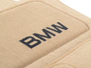 ES#1898180 - 82110439411 - Carpet Floor Mats - Beige  - Set of Four Beige - Genuine BMW - BMW
