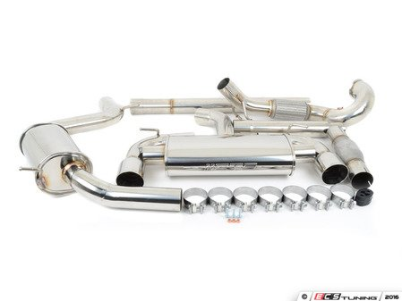 """ES#3097743 - EXHTB0007CAT - 3"""" Turbo-Back Exhaust System - Complete stainless steel exhaust with high flow converter - CTS - Volkswagen"""