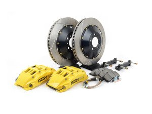 ES#3049141 - 83.152.6800.81 - StopTech front 6 piston big brake kit (380x32mm) - Comes with 6 piston yellow calipers, 2 piece uncoated slotted rotors and stainless steel brake lines. - Includes brackets and mounting bolts - StopTech - BMW