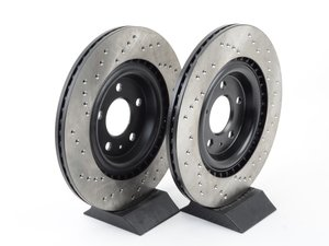 ES#2992310 - 128.33137kt - Rear Drilled Brake Rotors - Pair (330x22) - Upgrade your stopping power - StopTech - Audi