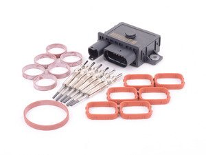 ES#3183602 - 12237807277KT - Glow Plug Service Kit  - Includes every thing needed to replace all six glow plugs for easy starts! - Assembled By ECS - BMW