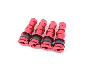 ES#3170875 - 4PCVSW/CAPRED - Aluminum Valve Stems With Hex Caps - Red - Lightweight anodized valve stems with hex caps - Sickspeed - BMW Volkswagen MINI