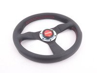ES#3135804 - MCL32BK3B - MOMO Montecarlo Steering Wheel - Red Stitch 320mm  - Customize your driving experience with this fine leather steering wheel - MOMO - Audi BMW Volkswagen Mercedes Benz MINI Porsche