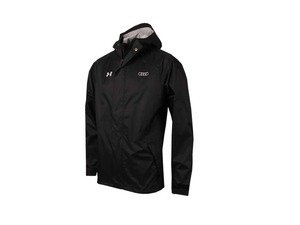 ES#3133401 - ACM2296BLKSM - Audi Under Armour Rain Jacket - Black - Small - This fully seam sealed, waterproof rain jacket will keep you dry while the names Under Armour and Audi are sure to turn head - Genuine Volkswagen Audi - Audi