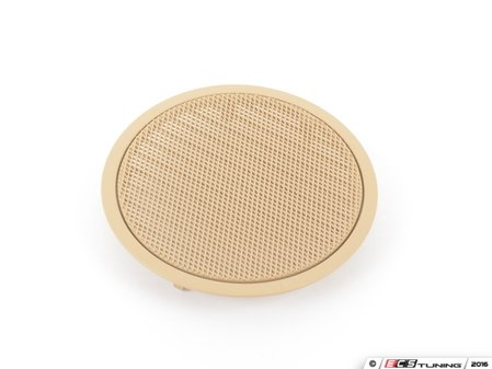 ES#98536 - 51416969385 - Beige Door Speaker Cover - Priced Each - Fits left and right side, front and rear locations. - Genuine BMW - BMW