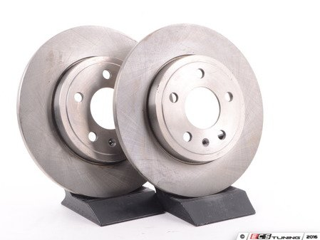 ES#2580391 - 8E0615601MKT3 - Rear Brake Rotors - Pair (288x12) - Restore the stopping power in your vehicle - Balo -