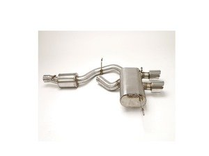 "ES#3218981 - FPIM-0286 - Cat-Back Exhaust Sytem - Featuring 4"" Twin ROUND Double-Wall Tips - Billy Boat Performance - Volkswagen"