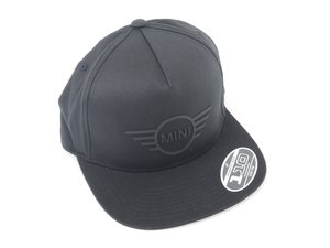 ES#3186045 - 80162445655 - MINI CAP Black - Wings Logo - Unisex hat with flat brim and MINI wings logo - Genuine MINI - MINI