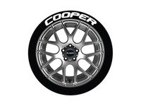 ES#3191738 - CO0P1921754 - Cooper Tire Lettering Kit - White - 4 of Each - .75 inch tall Permanent Raised Rubber Tire Stickers for 19-21 inch tires - Tire Stickers - Audi BMW Volkswagen Mercedes Benz MINI Porsche
