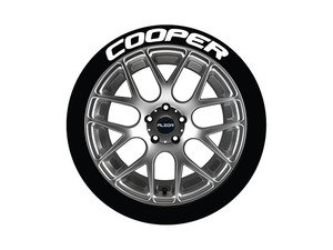ES#3191739 - CO0P1921754PS - Cooper Tire Lettering Kit - White - 4 of Each - .75 inch tall Temporary Peel & Stick Tire Stickers for 19-21 inch tires - Tire Stickers - Audi BMW Volkswagen Mercedes Benz MINI Porsche