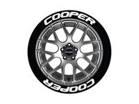 ES#3191737 - CO0P192118PS - Cooper Tire Lettering Kit - White - 8 of Each - 1 inch tall Temporary Peel & Stick Tire Stickers for 19-21 inch tires - Tire Stickers - Audi BMW Volkswagen Mercedes Benz MINI Porsche