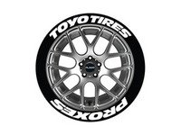 ES#3191897 - TOYPRO14161254PS - Toyo Tires Proxes Tire Lettering Kit - White - 4 of Each - 1.25 inch tall Temporary Peel & Stick Tire Stickers for 14-16 inch tires - Tire Stickers - Audi BMW Volkswagen Mercedes Benz MINI Porsche