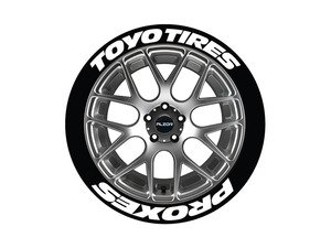 ES#3191909 - TOYPRO1921754PS - Toyo Tires Proxes Tire Lettering Kit - White - 4 of Each - .75 inch tall Temporary Peel & Stick Tire Stickers for 17-18 inch tires - Tire Stickers - Audi BMW Volkswagen Mercedes Benz MINI Porsche