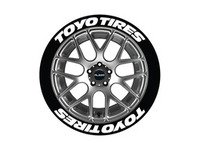 ES#3191913 - TOYTIR14161258PS - Toyo Tires Tire Lettering Kit - White - 8 of Each - 1.25 inch tall Temporary Peel & Stick Tire Stickers for 14-16 inch tires - Tire Stickers - Audi BMW Volkswagen Mercedes Benz MINI Porsche