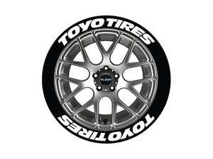 ES#3191937 - TOYTIR1921758PS - Toyo Tires Tire Lettering Kit - White - 8 of Each - .75 inch tall Temporary Peel & Stick Tire Stickers for 19-21 inch tires - Tire Stickers - Audi BMW Volkswagen Mercedes Benz MINI Porsche