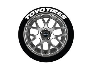 ES#3191927 - TOYTIR19211254PS - Toyo Tires Tire Lettering Kit - White - 4 of Each - 1.25 inch tall Temporary Peel & Stick Tire Stickers for 19-21 inch tires - Tire Stickers - Audi BMW Volkswagen Mercedes Benz MINI Porsche