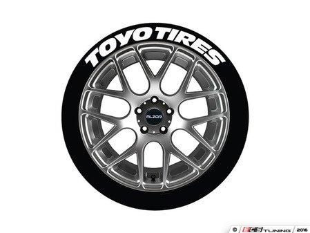 ES#3191923 - TOYTIR171814PS - Toyo Tires Tire Lettering Kit - White - 4 of Each - 1 inch tall Temporary Peel & Stick Tire Stickers for 17-18 inch tires - Tire Stickers - Audi BMW Volkswagen Mercedes Benz MINI Porsche