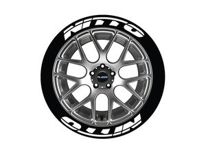 ES#3191869 - NIT171818PS - Nitto Tire Lettering Kit - White - 8 of Each - 1 inch tall Temporary Peel & Stick Tire Stickers for 17-18 inch tires - Tire Stickers - Audi BMW Volkswagen Mercedes Benz MINI Porsche