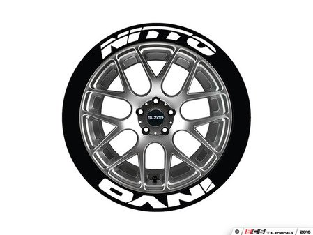 ES#3191895 - NITINV1921754PS - Nitto Invo Tire Lettering Kit - White - 4 of Each - .75 inch tall Temporary Peel & Stick Tire Stickers for 19-21 inch tires - Tire Stickers - Audi BMW Volkswagen Mercedes Benz MINI Porsche