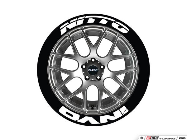 nitto tires with white lettering tire stickers nitinv1921754ps nitto invo tire 23783 | 937435 x600