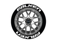ES#3191749 - FAL1416158PS - Falken Tire Lettering Kit - White - 8 of Each - 1.5 inch tall Temporary Peel & Stick Tire Stickers for 14-16 inch tires - Tire Stickers - Audi BMW Volkswagen Mercedes Benz MINI Porsche