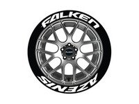 ES#3191778 - FALAZE19211254 - Falken Azenis Tire Lettering Kit - White - 4 of Each - 1.25 inch tall Permanent Raised Rubber Tire Stickers for 19-21 inch tires - Tire Stickers - Audi BMW Volkswagen Mercedes Benz MINI Porsche