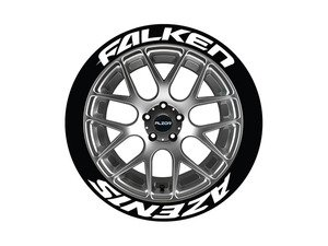 ES#3191773 - FALAZE1416154PS - Falken Azenis Tire Lettering Kit - White - 4 of Each - 1.5 inch tall Temporary Peel & Stick Tire Stickers for 14-16 inch tires - Tire Stickers - Audi BMW Volkswagen Mercedes Benz MINI Porsche