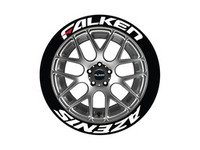 ES#3191816 - FAZRED17181254 - Falken Azenis Tire Lettering Kit - White With Red Dash - 4 of Each - 1.25 inch tall Permanent Raised Rubber Tire Stickers for 17-18 inch tires - Tire Stickers - Audi BMW Volkswagen Mercedes Benz MINI Porsche