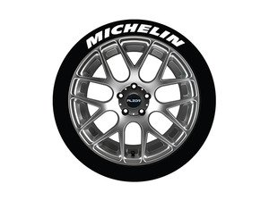 ES#3191826 - MIC14161254 - Michelin Tire Lettering Kit - White - 4 of Each - 1.25 inch tall Permanent Raised Rubber Tire Stickers for 14-16 inch tires - Tire Stickers - Audi BMW Volkswagen Mercedes Benz MINI Porsche