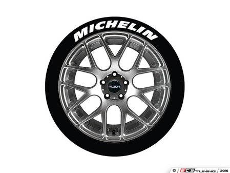ES#3191851 - MIC1921754PS - Michelin Tire Lettering Kit - White - 4 of Each - .75 inch tall Temporary Peel & Stick Tire Stickers for 19-21 inch tires - Tire Stickers - Audi BMW Volkswagen Mercedes Benz MINI Porsche