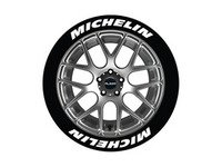 ES#3191832 - MIC1416158 - Michelin Tire Lettering Kit - White - 8 of Each - 1.5 inch tall Permanent Raised Rubber Tire Stickers for 14-16 inch tires - Tire Stickers - Audi BMW Volkswagen Mercedes Benz MINI