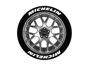 ES#3191828 - MIC14161258 - Michelin Tire Lettering Kit - White - 8 of Each - 1.25 inch tall Permanent Raised Rubber Tire Stickers for 14-16 inch tires - Tire Stickers - Audi BMW Volkswagen Mercedes Benz MINI Porsche