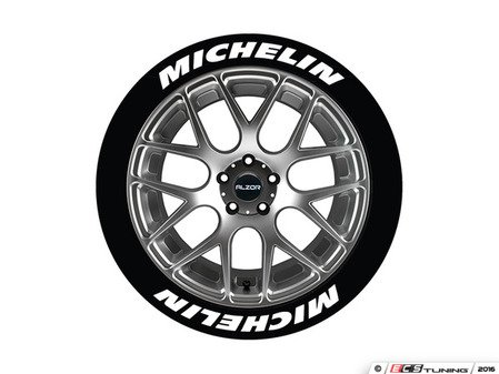 ES#3191853 - MIC1921758PS - Michelin Tire Lettering Kit - White - 8 of Each - .75 inch tall Temporary Peel & Stick Tire Stickers for 19-21 inch tires - Tire Stickers - Audi BMW Volkswagen Mercedes Benz MINI Porsche