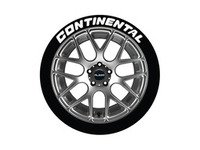 ES#3191679 - CON14161254PS - Continental Tire Lettering Kit - White - 4 of Each - 1.25 inch tall Temporary Peel & Stick Tire Stickers for 14-16 inch tires - Tire Stickers - Audi BMW Volkswagen Mercedes Benz MINI Porsche