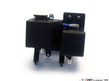 ES#3219168 - 80-272blkkt1KT - Expansion Tank / Power Steering Tank - Wrinkle Black Aluminum - Upgrade to Canton Racing on your MINI :: Both tanks plus the expansion tank cap - Canton Racing - MINI