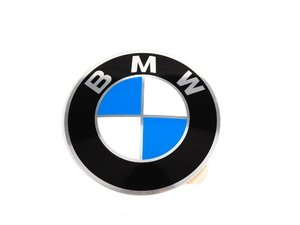 ES#65671 - 36131181080 - BMW Wheel Center Cap Emblem - 64.5mm - A replacement sticker for your center cap, domed. - Genuine BMW - BMW