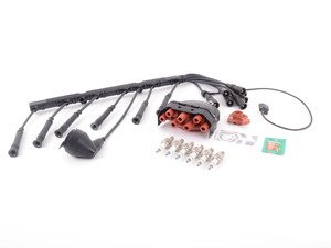 ES#3219344 - 12111715906KT1 - Performance Ignition Service Kit  - Includes new spark plugs, cap and rotor, ignition coil, and Turner Motorsport High-Performance Wire Set - Assembled By ECS - BMW
