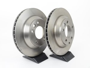 """ES#2539338 - 95535240131KT5 - Rear Brake Rotors - Pair 12.99"""" (330mm) - Rear axle fitment - Both left and right - Pilenga - Porsche"""
