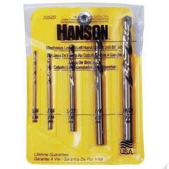 ES#2937020 - AHN30520 - Drill set Left-Hand Mechanics Length Cobalt High Speed 5 Pc. Set - Left hand drill bit work better because they are turning the removal direction.