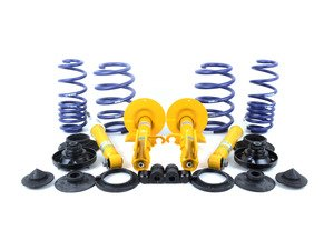 ES#3149310 - E53CUPKITCONVKT - Front & Rear Sport Coil Spring Conversion Kit/Cup Kit - H&R and Bilstein - Eliminate failure-prone high mileage airbags and add confidence-inspiring sure-footedness with Bilstein B6 Heavy Duty dampers and H&R Sport springs - Assembled By ECS - BMW