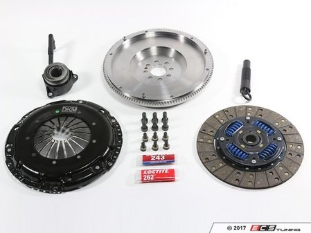 ES#3220734 - MB-034-060 - Stage 2 Performance Clutch Kit - With Single Mass Flywheel - Designed to hold up to 440 ft/lbs of torque to the wheels with a sprung organic disc and steel flyweel - DKM - Audi Volkswagen