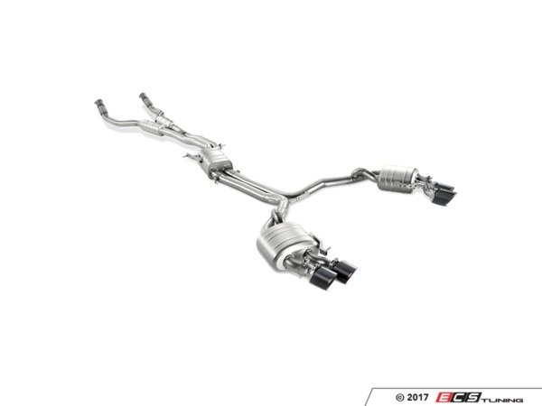 ES#3220784 - S-AU/TI/6H - Akrapovi Evolution Line Titanium Catback Exhaust System  - The addition of an Evolution exhaust will increase power and torque levels, while decreasing weight and adding the unique Akrapovi sound. - Akrapovic - Audi