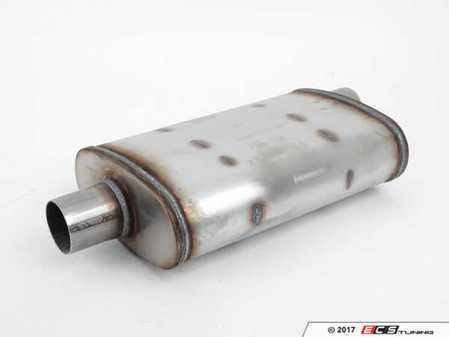 ES#2613879 - 13215 - Universal Muffler - Priced Each  - Configuration: Center/Offset, Length: 14in, Overall Length: 20in, In/Out Diameter: 2.25/2.25, Finish: Satin - Magnaflow - Audi BMW Volkswagen