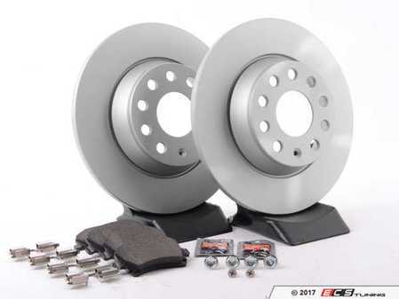 ES#3173587 - 1k0615601adecoKT - Economy Ceramic Rear Brake Service Kit (282x12) - Coated Meyle Rotors and Jurid Ceramic Brake pads - Only the essentials to perform a brake service - Assembled By ECS - Volkswagen