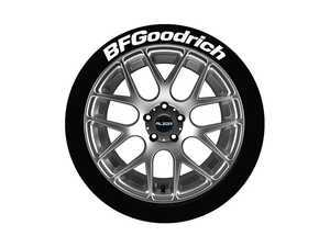 ES#3191650 - BFG14161254 - BFGoodrich Tire Lettering Kit - White - 4 of Each - 1.25 inch tall Permanent Raised Rubber Tire Stickers for 14-16 inch tires - Tire Stickers - Audi BMW Volkswagen Mercedes Benz MINI Porsche