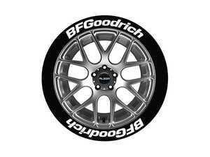 ES#3191664 - BFG171818 - BFGoodrich Tire Lettering Kit - White - 8 of Each - 1 inch tall Permanent Raised Rubber Tire Stickers for 17-18 inch tires - Tire Stickers - Audi BMW Volkswagen Mercedes Benz MINI Porsche