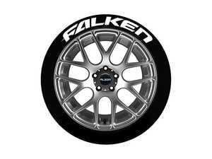 ES#3191755 - FAL171814PS - Falken Tire Lettering Kit - White - 4 of Each - 1 inch tall Temporary Peel & Stick Tire Stickers for 17-18 inch tires - Tire Stickers - Audi BMW Volkswagen Mercedes Benz MINI Porsche
