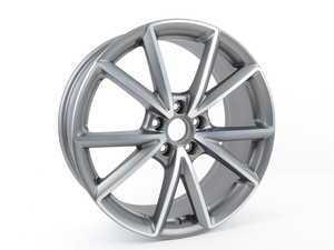 """ES#2955296 - 8V0601025AT - 19"""" V-Split 10-Spoke Wheel - Priced Each - 19""""x8"""" ET49 5x112 Silver - Genuine Volkswagen Audi - Audi"""