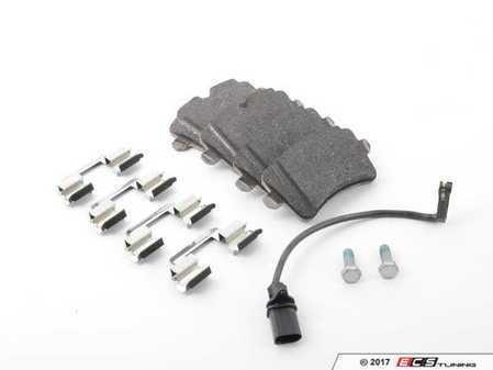 ES#3197127 - 4G0698451J - Rear Brake Pad Set - Includes brake pad wear sensors - Genuine Volkswagen Audi - Audi