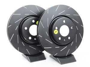 ES#2620629 - USR1838 - Front Slotted Brake Rotors - Pair (320x30) - Reduce the fading, improve your braking - EBC - Audi